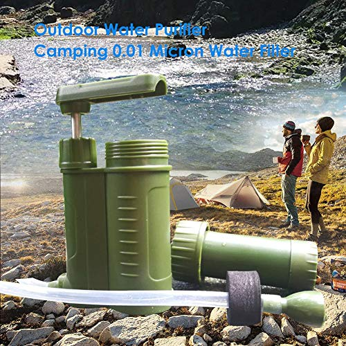 0.01 Micron Water Filter for Camping Hiking Travel Emergency Backpacking