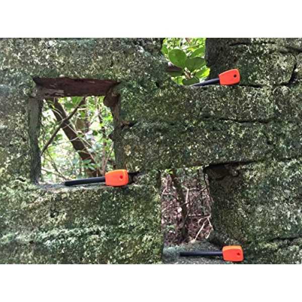 FOSTAR Survival Fire Starter 5 FOSTAR 3 PCS Tactical Ferro (Ferrocerium) Rods, Bushcraft Flint Fire Starter with Easy Grip Handle, 5/16 Inch Thick Waterproof Fire Steel Magnesium Camping Tool Kit
