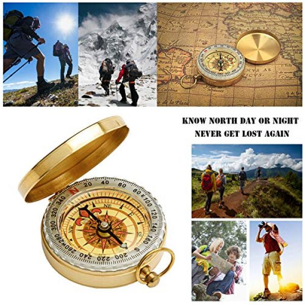 Qi Mei Survival Compass 7 Qi Mei Camping Survival Compass Metal Pocket Compass Kids Compass for Hiking Camping Hunting Outdoor Military Navigation Tool