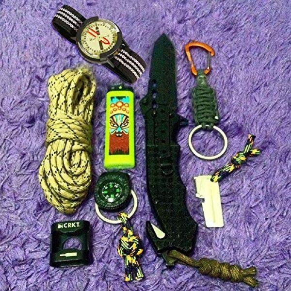 Kakuru Survival Compass 6 Kakuru Survival Fist Aid Wrist Compass, High Accuracy IP67 Waterproof Dustproof Luminous Watch Compass for Diving Hiking Outdoor Activities