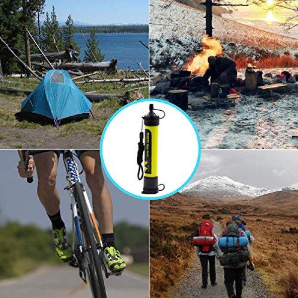 AVENTURE ET CULTURE Survival Water Filter 4 AVENTURE ET CULTURE Personal Water Filter for Hiking, Camping, Travel, and Emergency Preparedness