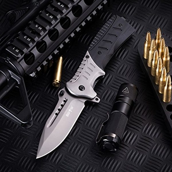 Grand Way Folding Survival Knife 7 Pocket Knife Spring Assisted Knives for Men - Assisted Opening Folding Tactical Survival Knofe - EDC Camping Hunting Boy Scouts Gear Accessories Knifes Christmas Gift Ideas for Men Guys 6783