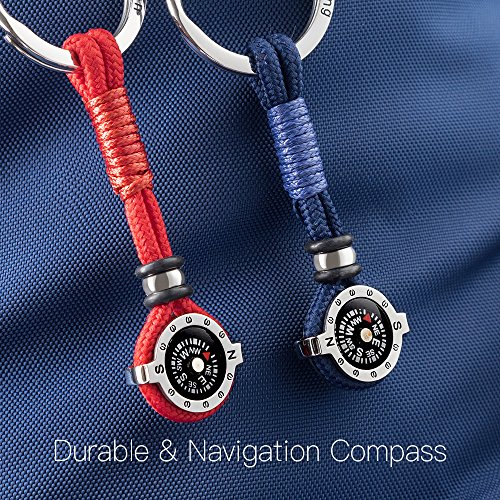 DAYHAO Survival Compass 5 DAYHAO Novelty Compass Keychain for Outdoor Enthusiast,Stylish & Practical,Quality Compass for Hiking,Camping,Luxurious Packaging,Outdoor Gift for Outdoorsman,Gift for Hikers,Campers and Backpackers