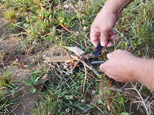 Dream wave Products Survival Fire Starter 7 Magnesium flint fire starter 6-in-1 multifunctional Flint + Compass + Scraper + Bottle Opener + Dividing Ruler + Map Rangefinder