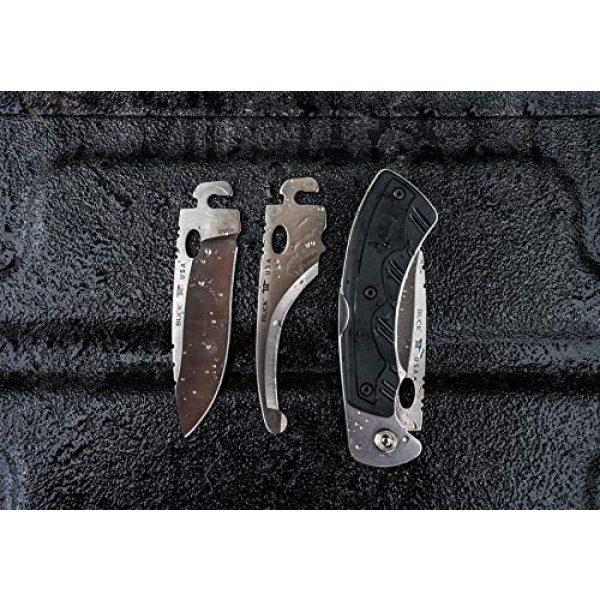 Buck Knives Folding Survival Knife 6 Buck Knives 550 Selector 2.0 Exchangeable Blade Folding Midlock Hunting Knife with 3 Interchangeable Blades & Sheath, 420HC Steel, Nylon Handle, Black