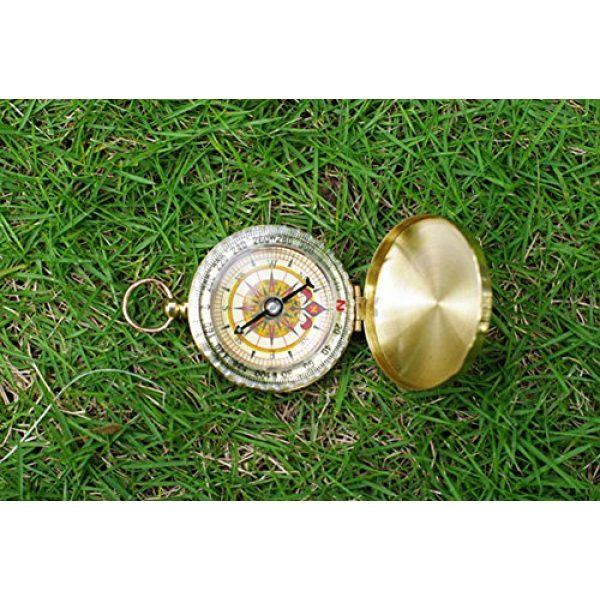 BlueSnail Survival Compass 5 PPbean Classic Pocket Style Camping Compass