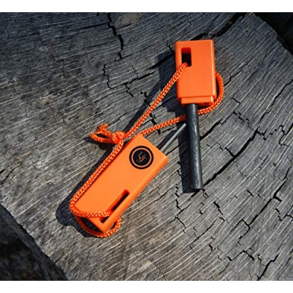 UST Survival Fire Starter 4 UST SparkForce Fire Starter with Durable Construction and Lanyard for Camping, Backpacking, Hiking, Emergency and Outdoor Survival