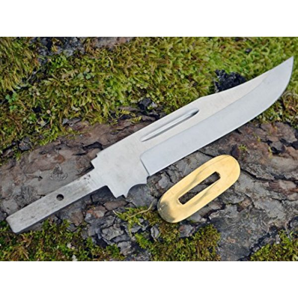 Whole Earth Supply Fixed Blade Survival Knife 2 Whole Earth Supply (Set of 2) Clip Point Knives Knife Blades Blanks Hunting Blank Blade Hunter Making Parts BL0S34