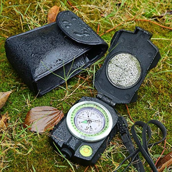 Sportneer Survival Compass 7 Sportneer Lightweight Sighting Compass with Inclinometer, Distance Calculator, Military Lensatic Waterproof Survival Compasses for Camping, Hiking, Backpacking, Boy Scout,Navigation, Boating