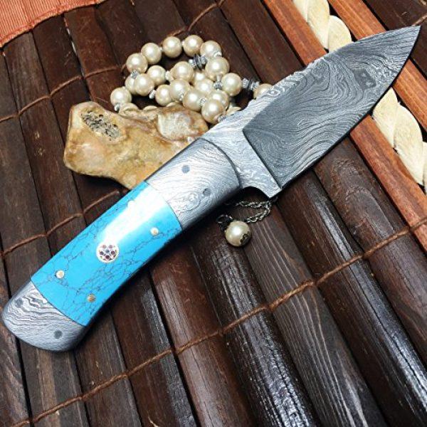 Perkin Fixed Blade Survival Knife 2 Perkin Handmade Damascus Steel Hunting Knife