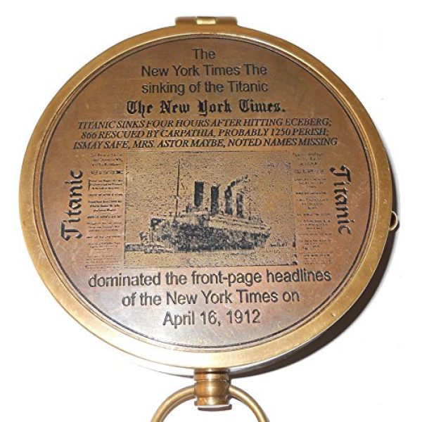 collectiblesBuy Survival Compass 3 Collectibles Buy Antique Lid Titanic Compass Brass Finish Vintage Nautical Sailor Article - Maritime Magnetic Gift