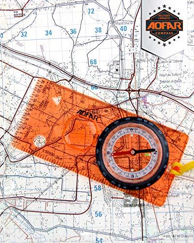 AOFAR  2 AOFAR AF-5C Orienteering Compass for Hiking