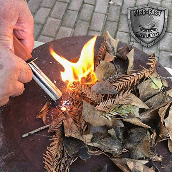 Fire-Fast Survival Fire Starter 3 Fire-Fast Trekker. Best Emergency Waterproof Survival Fire Starter. Magnesium and Euro Fire Steel Ferro Rod. Compact Durable Tool for Bushcraft, Camping, Backpacking, Hiking, Hunting, or Bug Out Bag.