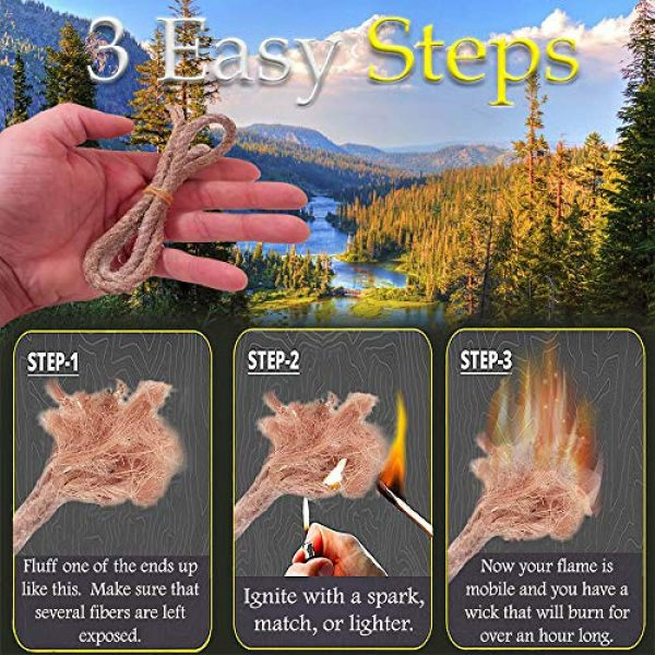 FR-1 Defense Survival Fire Starter 3 Tin Container Fire Starter with Fatwood, Tinder Wick, and Fire AceTinder. Great Fire Starter Kit for Camping Gear and Backpacking Accessories.
