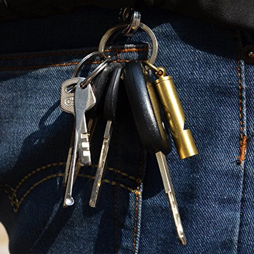 Outmate  6 Mini Whistle Premium Emergency Whistle by Outmate-H62 Brass Loud Version EDC Tools