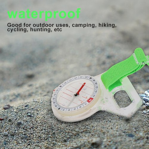 Lightweight Pocket Size Acrylic Map Ruler Mapping Compass Tool for Outdoor Camping Hiking
