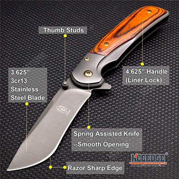 KCCEDGE BEST CUTLERY SOURCE Folding Survival Knife 2 KCCEDGE BEST CUTLERY SOURCE Pocket Knife Camping Accessories Survival Kit Camping Gear Razor Sharp Tactical Knife EDC Folding Knife 57215
