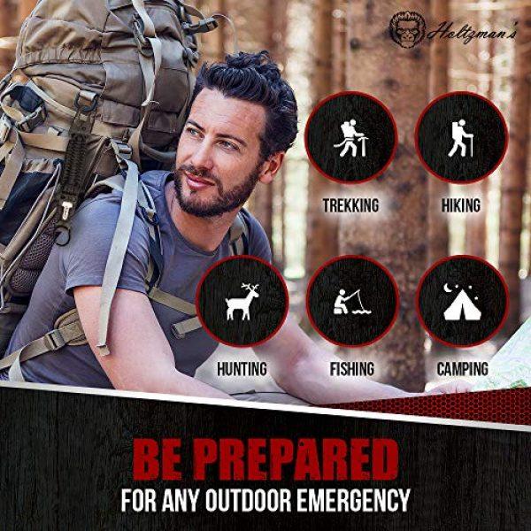 Holtzman's Gorilla Survival Survival Fire Starter 3 Holtzman's Elite Paracord Keychain