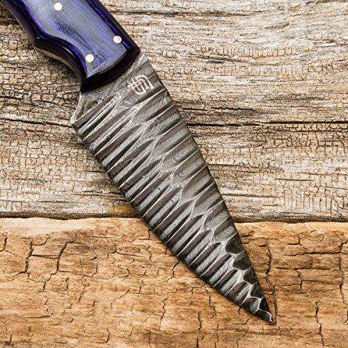 Forseti Steel  6 Forseti Steel Azure Dragon Damascus Steel Knife
