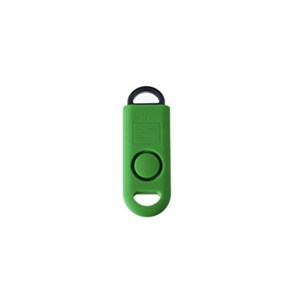 B A S U Survival Alarm 2 B A S U eAlarm+ with Tripwire Hook, Emergency Personal Alarm, Battery Included, Carabiner Included, Ranger Green