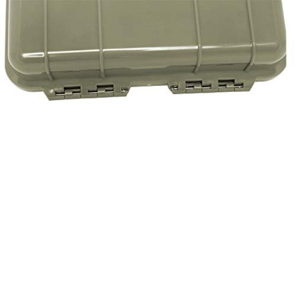 KNC Survival Box 6 KNC 1PCS Outdoor Plastic Waterproof Shockproof Box Airtight Survival Case Container Storage Carry Box