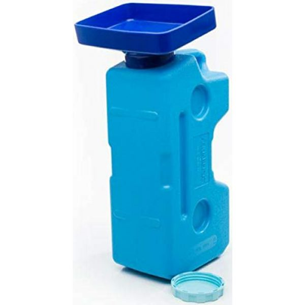 """Sagan Life Survival Storage 5 AquaFunnel BPA Free Funnel Makes AquaBrick Food Storage and Emergency Water Storage Stackable Containers Easy to Fill, Dimensions: 9""""L x 6.5"""" W x 3.25""""H (Also works w/WaterBrick Systems)"""