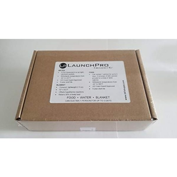 Survivor Industries Survival Kit 3 LaunchPro Emergency Food, Water & Thermal Blanket, Good for 1 person up to 3 days (72 hours), add to Emergency or Survival Kit