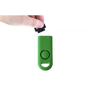B A S U Survival Alarm 1 B A S U eAlarm+ with Tripwire Hook, Emergency Personal Alarm, Battery Included, Carabiner Included, Ranger Green