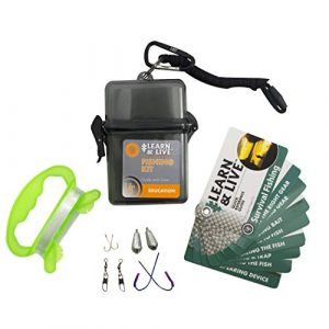 UST Survival Kit 1 UST Learn & Live Outdoor Educational Kits with Waterproof Cards, Tools and Watertight Case for Hiking, Camping, Backpacking, Hunting and Outdoor Survival