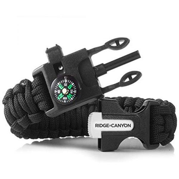 Ridge & Canyon Survival Bracelet 3 Ridge & Canyon Survival Bracelet (2 Pack) | The Ultimate 5-in-1 Paracord Bracelet | Value Multi-Pack Sold as Pair