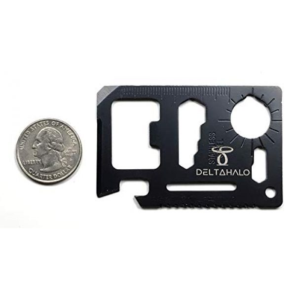 DeltaHalo Survival Tool 3 DeltaHalo | Credit Card Multitool for Camping and Emergencies | Survival tool perfect for bug-out bags or survival kits. | American Seller!!