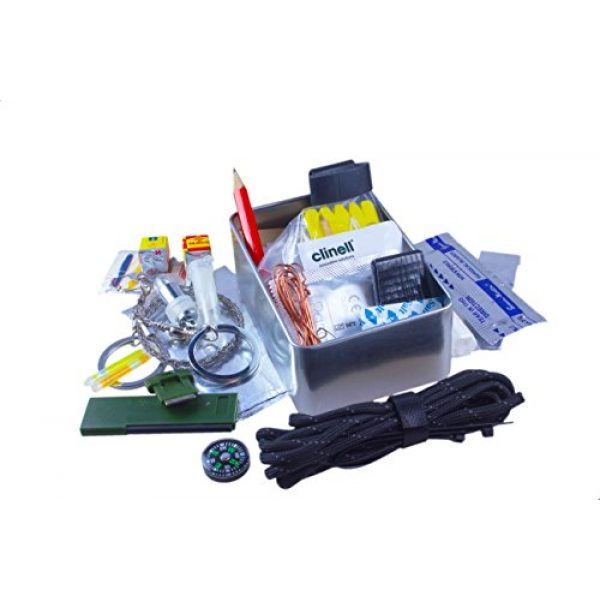 Limitless Equipment Survival Kit 3 Limitless Equipment Mark 1 Survival Kit: UK Made, Pocket Size, pro Level Gear. 40+ Items inc. Emergency LED, Fishing kit, fire Making, firecord and More