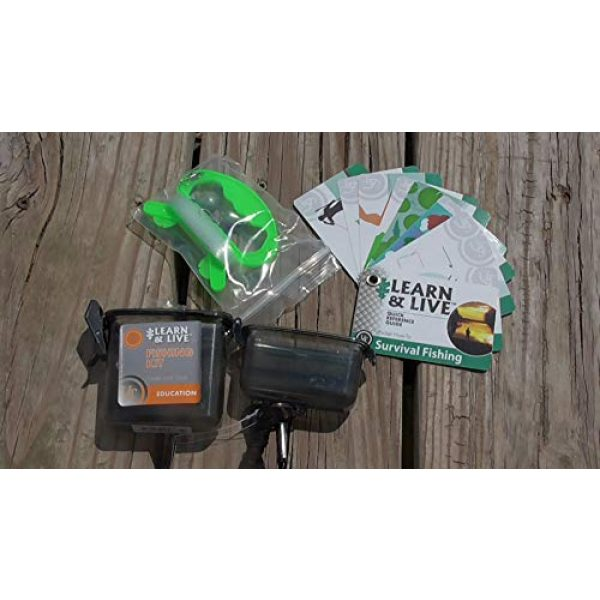 UST Survival Kit 2 UST Learn & Live Outdoor Educational Kits with Waterproof Cards, Tools and Watertight Case for Hiking, Camping, Backpacking, Hunting and Outdoor Survival