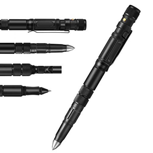 ispandy Survival Kit 3 Tactical Pen for Self-Defense Pens LED Tactical Flashlight with Ballpoint Pen,Window Glass Breaker,Whistle ,Pocket Tool Credit Card Tool,Wire Saw,3 Type/Set Multi Tool Pen for Survival Gear