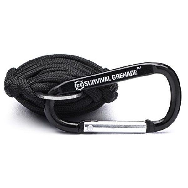 SharpSurvival Survival Kit 3 Survival Kit - Survival Grenade Emergency Key Chain Survival Kit - Paracord Grenade Survival Kit with 8+ Tools + Fire Starter & Eye Knife (Black)