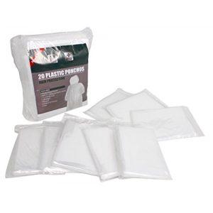 Noe&Malu Poncho 1 Noe&Malu Disposable Emergency Clear Rain Poncho for Adults - 20 Pack