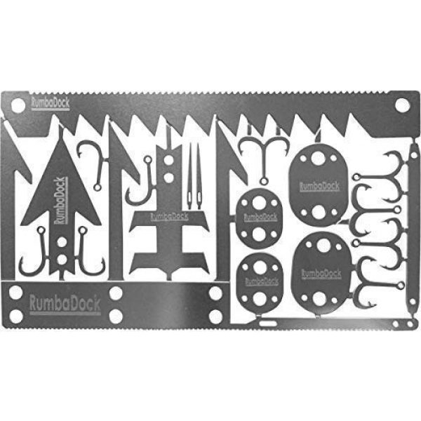 RumbaDock Survival Tool 1 Survival MultiTool Card Sized:Bug Out Bag CampingTool: Best Multitool for Camping and Wilderness Survival Preppers Gear; Fishing Camping Hiking Hunting Emergency Kit;