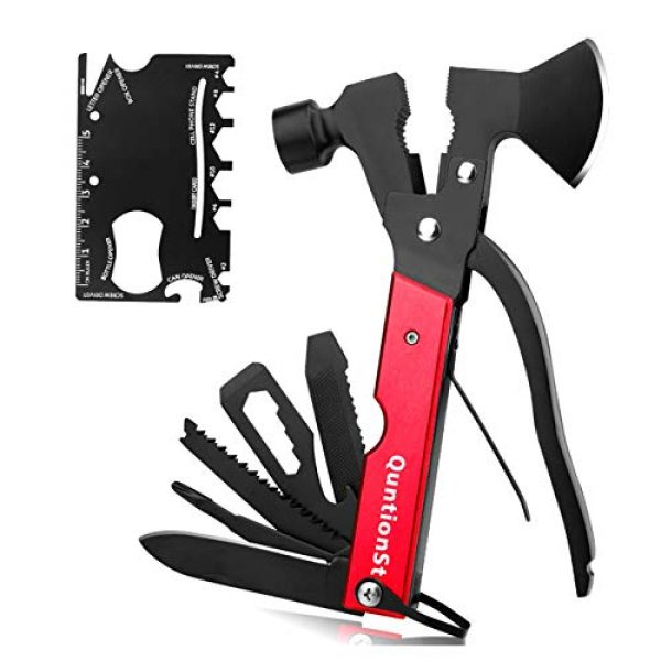 QuntionSt Survival Tool 1 Gifts for Dad Men Teens Fathers Day,Multitool Camping Gear Kits, 16 in 1 Survival Gear With 18 in 1 Multi Tool Card, Multipurpose Emergency Hatchet, Survival Kits for Outdoor Travel Hiking Household