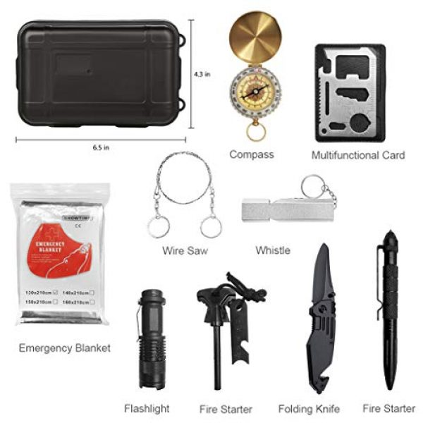 Revelook Survival Kit 2 Revelook Emergency Survival Multitool - First Aid Kit Boy Scout Camp Tool EDC Pocket Camping Gear Car Hunting Accessories Gifts for Men Father Son Husband Christmas Day Birthday Present