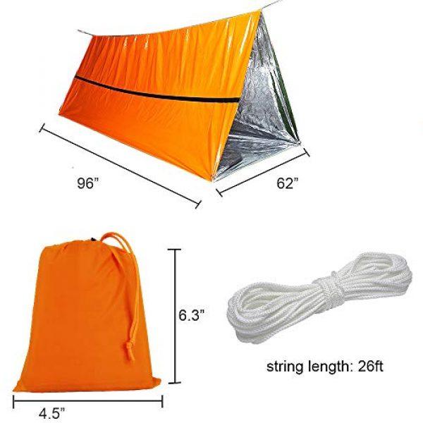 Funlove Survival Kit 2 Funlove 2 Person Survival Emergency Tent- Use As Survival Tube Tent, Emergency Shelter, Survival Sleeping Bag, Survival Tarp