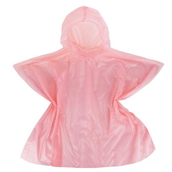 Wealers Poncho 4 Emergency Kids Rain Poncho with Hood with Breathable Eva Material - Commuter Friendly Rain Poncho Survival Kit Accessory for Travel Trailblazing Picnics Camping School Corporate Events (6 Pack)