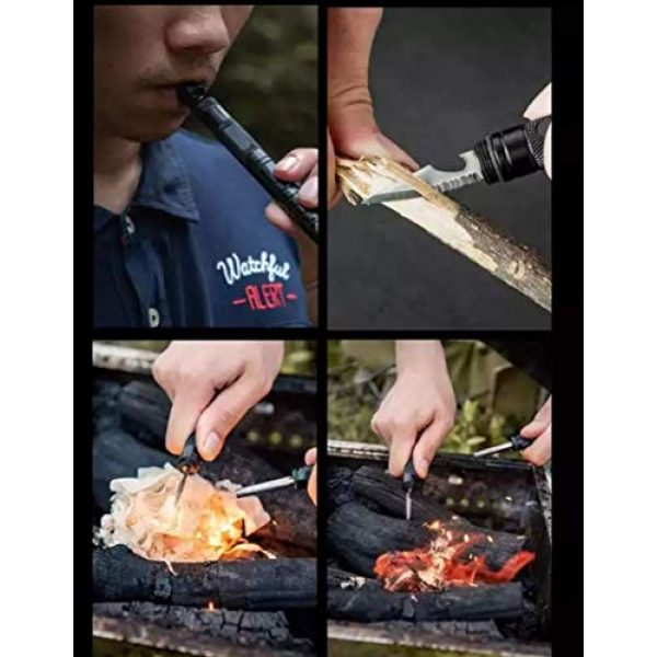 Xavier Survival Kit 5 XAVIER Tactical Multitool 9 In 1 Survival Gear Kits with Fishing tool, Fire Starter, Whistle, Emergency Glass Breaker, Compass, for Camping, Hiking, Hunting with Paracord Bracelet