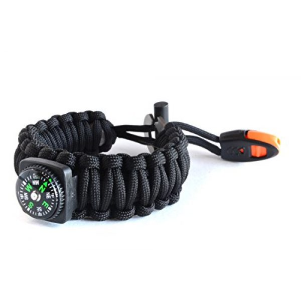 Right Sport Survival Bracelet 2 Right Sport Backpacking/Camping/Hiking Bracelet Emergency 550 Paracord Band Includes 18 Pieces of Survival Gear - Whistle, Compass, Bottle Opener, Fire Starter, Knife and More in Kit