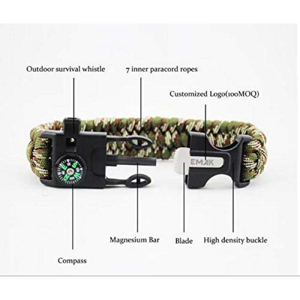Q4Home Survival Bracelet 7 Q4Home Paracord Survival Bracelet; 5 in 1 Survival Bracelets Kit. Paracord, Fire-Starter Flint, Whistle, Compass, Multi Tactical Tool.