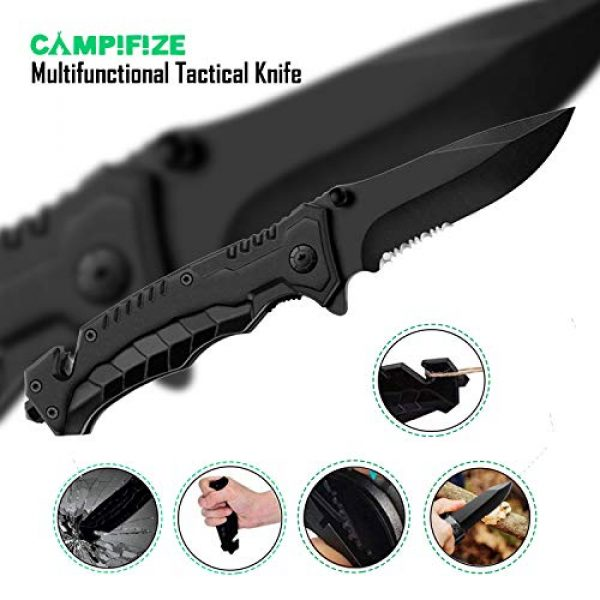 Campifize Survival Kit 3 Campifize Survival Tool Kit for Emergencies 13 in 1 Gear for Camping, Hiking, Climbing, Car - Birthday Gift - Present for Boyfriend - Husband or Wife - Mom or Dad - Father's Day