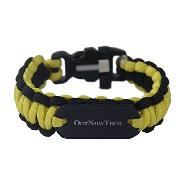 OutNowTech Survival Bracelet 1 OutNowTech Paracord Survival Bracelet with Whistle and Fire Starter - Easy to Carry Emergency Survival Gear Kit - Unravels to Provide 10ft of Paracord 550