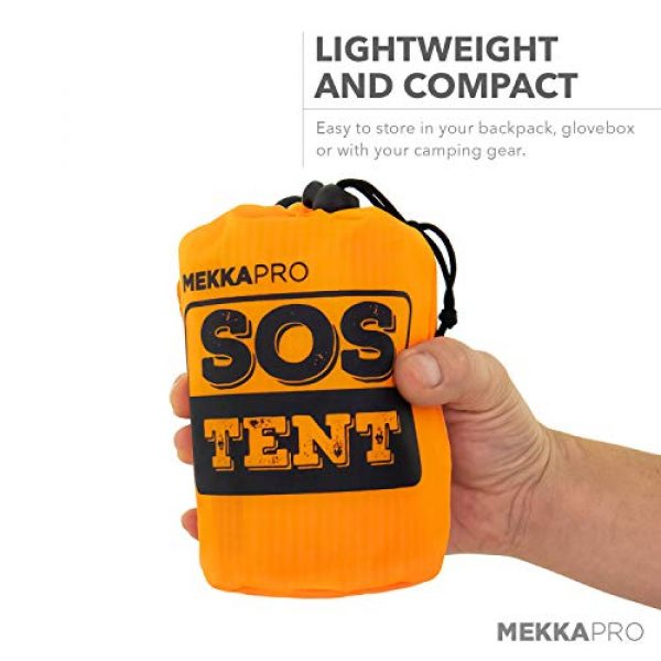 MEKKAPRO Survival Kit 3 MEKKAPRO Emergency Survival Tent Shelter - 2 Person Tent - Survival Emergency Shelter, Tube Tent, Tarp