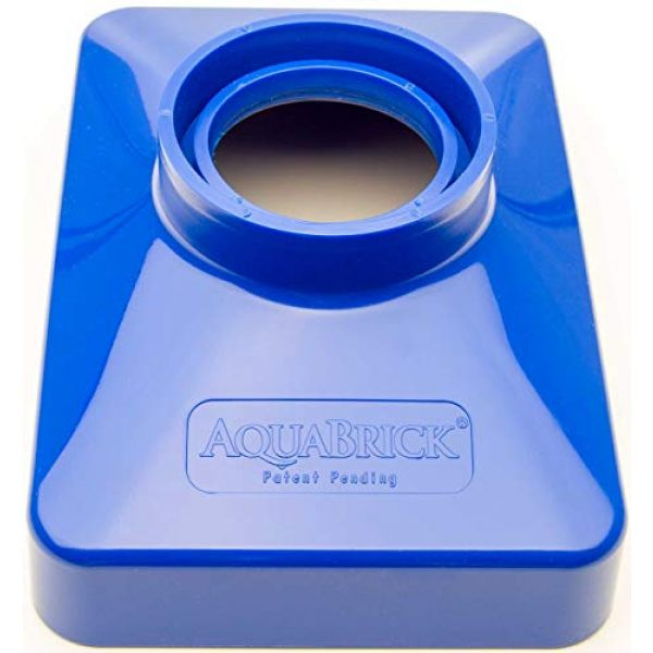 """Sagan Life Survival Storage 2 AquaFunnel BPA Free Funnel Makes AquaBrick Food Storage and Emergency Water Storage Stackable Containers Easy to Fill, Dimensions: 9""""L x 6.5"""" W x 3.25""""H (Also works w/WaterBrick Systems)"""