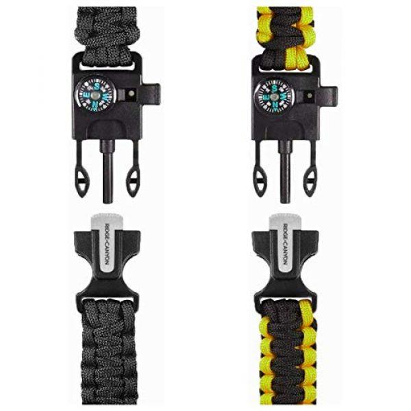 Ridge & Canyon Survival Bracelet 2 Ridge & Canyon Survival Bracelet (2 Pack) | The Ultimate 5-in-1 Paracord Bracelet | Value Multi-Pack Sold as Pair
