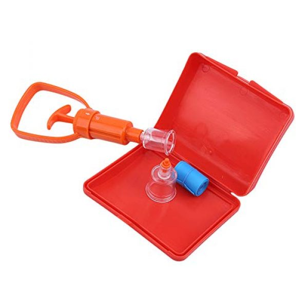 BYBYCD Survival Kit 7 Outdoor Survival Rescue Emergency Safety Tool Venom Extractor First Aid Kit Wild Vipers Bees Biting Venom Vacuum Extractor Pump